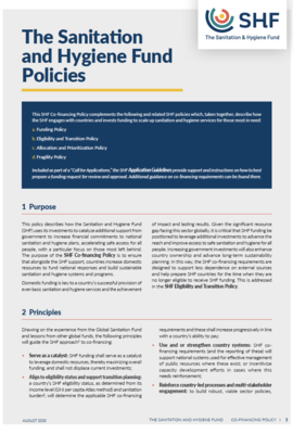 SHF Policies Cover